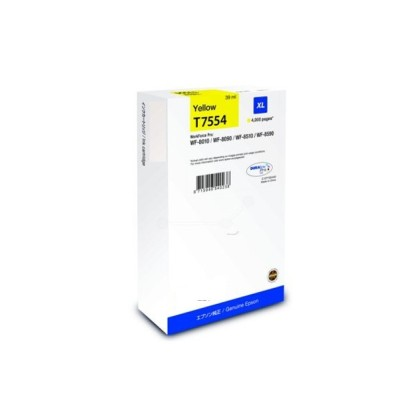 Originální cartridge Epson T7554 (Žlutá)
