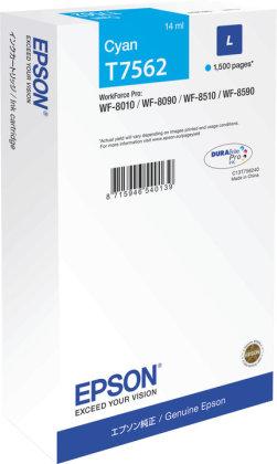 Originální cartridge Epson T7562 (Azurová)