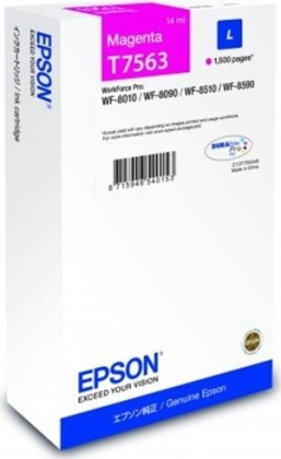 Originální cartridge Epson T7563 (Purpurová)