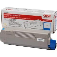 Toner do tiskárny Originální toner OKI 43865723 (Azurový)