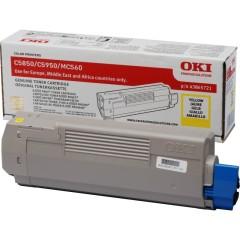 Toner do tiskárny Originální toner OKI 43865721 (Žlutý)