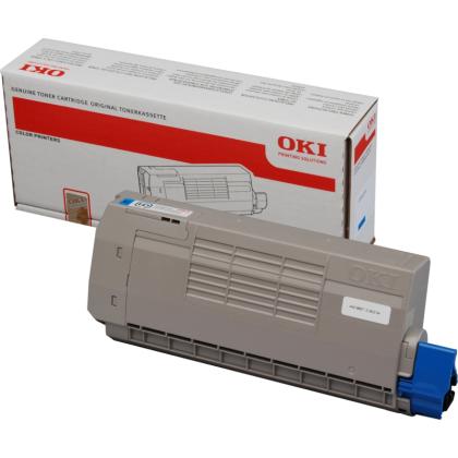 Originální toner OKI 44318607 (Azurový)