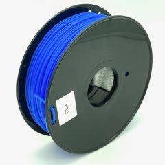 Tisková struna PLA pro 3D tiskárny, 3mm, 1kg, průhledně modrá