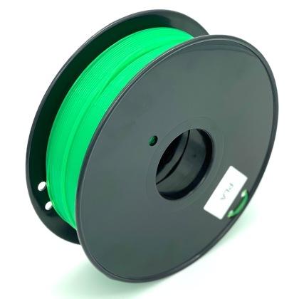 Tisková struna PLA pro 3D tiskárny, 1,75mm, 1kg, průhledně zelená