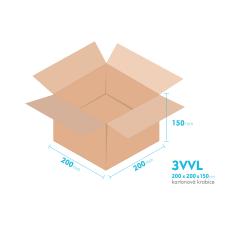 Kartonové krabice 3VVL - 200x200x150mm - vnitřní 195x195x140mm