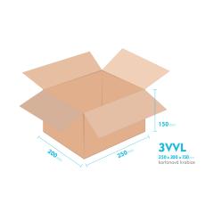 Kartonové krabice 3VVL - 250x200x150mm - vnitřní 245x195x140mm
