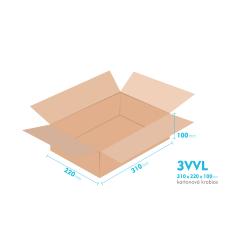Kartonové krabice 3VVL - 310x220x100mm - vnitřní 305x215x90mm