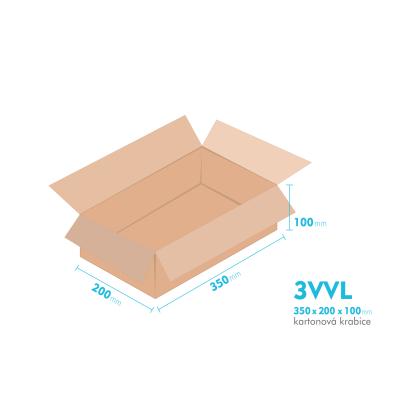 Kartonové krabice 3VVL - 350x200x100mm - vnitřní 345x195x90mm