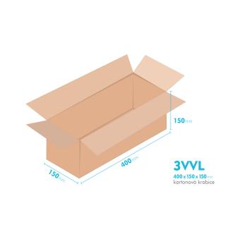 Kartonové krabice 3VVL - 400x150x150mm - vnitřní 395x145x140mm