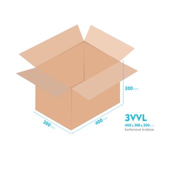 Kartonové krabice 3VVL - 400x300x300mm - vnitřní 395x295x290mm