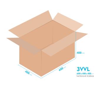 Kartonové krabice 3VVL - 600x400x400mm - vnitřní 595x395x390mm