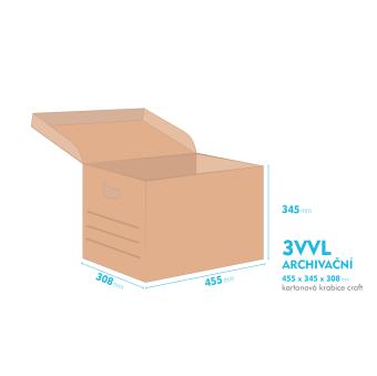 Archivační krabice - 455x345x308mm