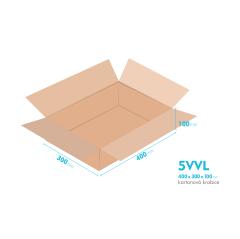 Kartonové krabice 5VVL - 400x300x100mm - vnitřní 394x294x88mm