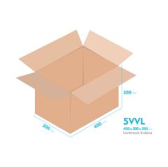 Kartonové krabice 5VVL - 400x300x300mm - vnitřní 394x294x288mm