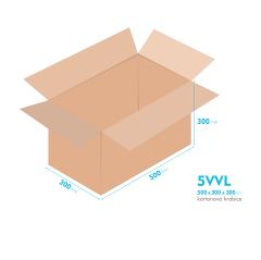 Kartonové krabice 5VVL - 500x300x300mm - vnitřní 494x294x288mm