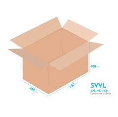 Kartonové krabice 5VVL - 600x400x400mm - vnitřní 594x394x388mm