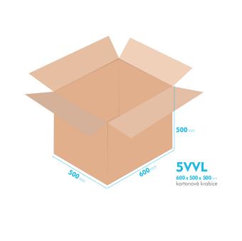 Kartonové krabice 5VVL - 600x500x500mm - vnitřní 594x494x488mm