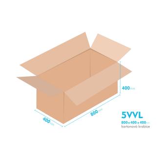 Kartonové krabice 5VVL - 800x400x400mm - vnitřní 794x394x388mm