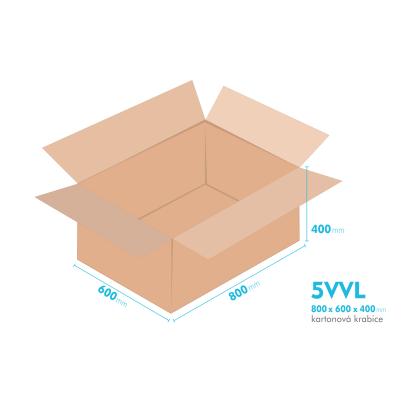 Kartonové krabice 5VVL - 800x600x400mm - vnitřní 794x594x388mm