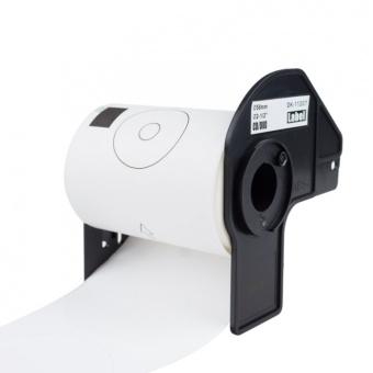 Kompatibilní etikety s Brother DK-11207, papírové bílé, CD/DVD, průměr 58mm, 100ks