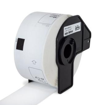 Kompatibilní etikety s Brother DK-11208, papírové bílé, široké adresy, 38 x 90mm, 400ks