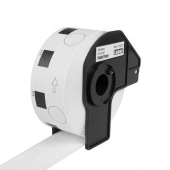 Kompatibilní etikety s Brother DK-11218, papírové bílé, kulaté, průměr 24mm, 1000ks