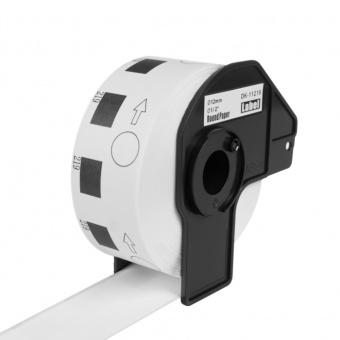 Kompatibilní etikety s Brother DK-11219, papírové bílé, kulaté, průměr 12mm, 1200ks