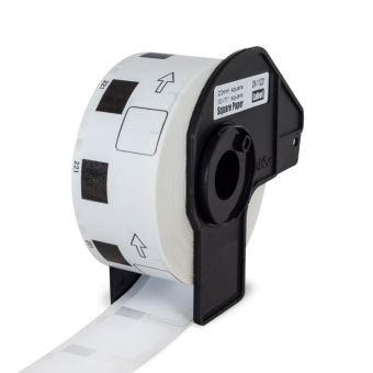 Kompatibilní etikety s Brother DK-11221, papírové bílé, čtvercové, 23 x 23mm, 1000ks