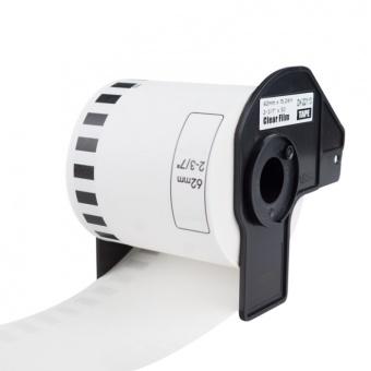 Kompatibilní etikety s Brother DK-22113, průsvitná filmová role, 62mm x 15,24m