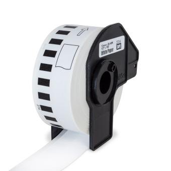 Kompatibilní etikety s Brother DK-22214, papírová role 12mm x 30,48m
