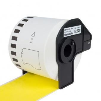 Kompatibilní etikety s Brother DK-44605, žlutá papírová role s odstranitelným lepidlem, 62mm x 30,48m