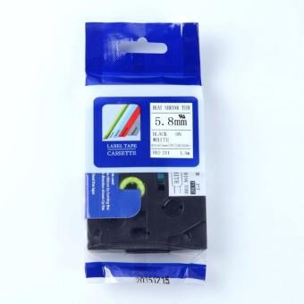 Kompatibilní páska s Brother HSE-211, 5,8mm, černý tisk na bílém podkladu, smršťovací bužírka