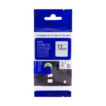 Kompatibilní páska s Brother TZE-535, 12mm, bílý tisk na modrém podkladu