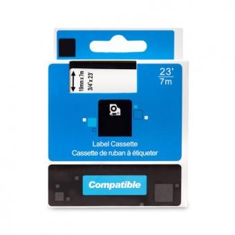Kompatibilní páska s DYMO 45811 (S0720910), 19mm, bílý tisk na černém podkladu