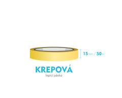 Lepící páska krepová - 15mm x 50m