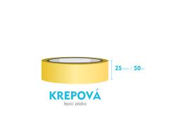 Lepící páska krepová - 25mm x 50m