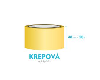Lepící páska krepová - 48mm x 50m