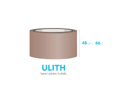Lepící páska, hnědá - ULITH - 48mm x 66m