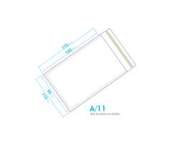 Bílá bublinková obálka A/11 vnitřní rozměr 95x165 mm