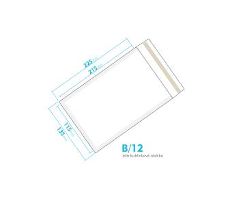 Bílá bublinková obálka B/12 vnitřní rozměr 115x215 mm