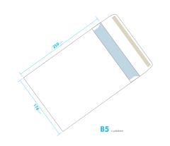 Dopisní obálka - B5 s páskem