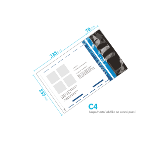 Bezpečnostní obálka C4 - bez dobírky česká pošta