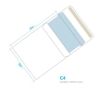 Dopisní obálka - C4 samolepící - okénko vpravo