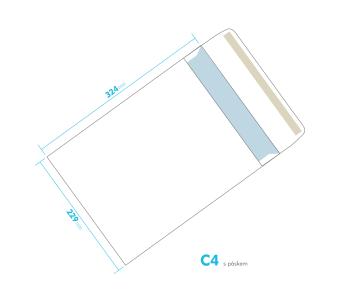 Dopisní obálka - C4 s páskem