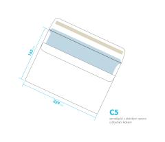 Dopisní obálka - C5 samolepící - okénko vpravo, dlouhý bok
