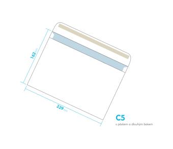 Dopisní obálka - C5 s páskem - s dlouhým bokem