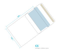 Dopisní obálka - C5 samolepící - okénko vpravo