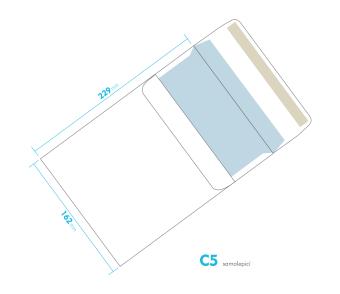 Dopisní obálka - C5 samolepící