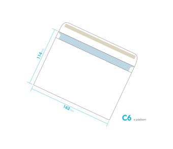 Dopisní obálka - C6 s páskem