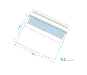 Dopisní obálka - C6 samolepící